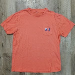 Southern Tide Short Sleeve T-Shirt Flags Coral